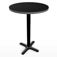 "Black Tall Bar Table 30"" (Accent Furnishings)"