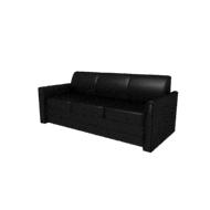Laredo Black Leather Sofa (Accent Furnishings)