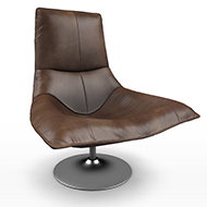 Brown Leather chair 08b