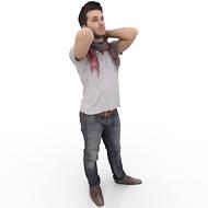 Young Man Stretching HD