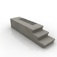 Corner Concrete Step