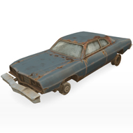 total wreck rusty car