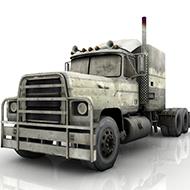 Long Nose Rusty Truck