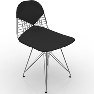 Eames Wire Chair Leather Seat