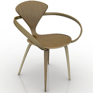 Cherner wood base chair