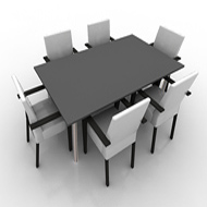 Table with 6 Chairs rectangular