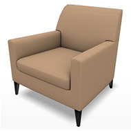 Newport Tan Suede Chair (Accent Furnishings)