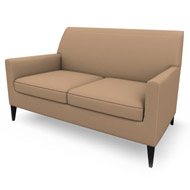 Newport Tan Suede Loveseat (Accent Furnishings)