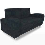 Uptown Black Suede Loveseat (Accent Furnishings)