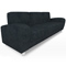 Uptown Black Suede Sofa (Accent Furnishings)