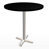 "Black & Chrome Tall Bar Table 36"" (Accent Furnishings)"