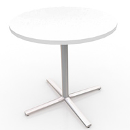 "White & Chrome Table 30"" (Accent Furnishings)"