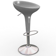 Grey Scoop Chair (Accent Furnishings)