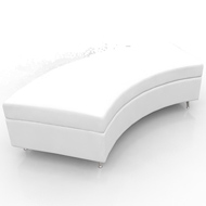 Contempo Curved Bench White Leather (Accent Furnishings)