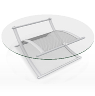 Uptown Nickel & Glass Cocktail Table (Accent Furnishings)