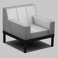 Straight armchair