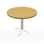 "Maple & Chrome Table 30"" (Accent Furnishings)"