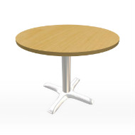 "Maple & Chrome Table 36"" (Accent Furnishings)"