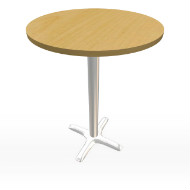 "Maple & Chrome Tall Bar Table 30"" (Accent Furnishings)"