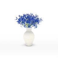 blue centerpiece
