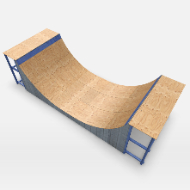Skate park short Pipe