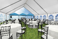 Outdoor event tent example