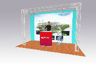 Expo stand open 3 sides 4x1M