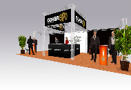 Exhibition  stand 9.5m x 4m x 3.6m high