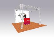 sys35trio truss system 3m sq x 2.5m high perimeter truss system