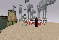Star Wars epic battle scene