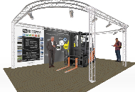 7.5m by 4.6m Exhibition stand