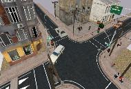 street corner scene