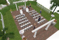 Patio wedding plan