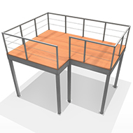 12x16 Expodeck no stairs
