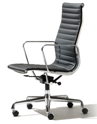 Black Leather Izzo Chair (Accent Furnishings)