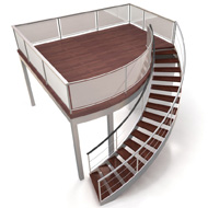 Double Deck Curved Staircase