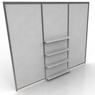 Octanorm Panels 3 w shelves