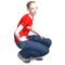 Paulina squatting