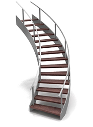 Double Deck Round Stairs