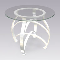 Chrome & Glass End Table (Accent Furnishings)