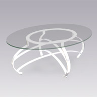Chrome & Glass Cocktail Table (Accent Furnishings)