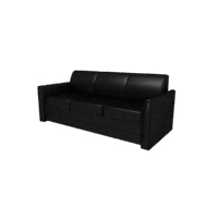 Laredo Black Leather Sofa (Accent Furnishings)