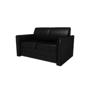 Laredo Black Leather Loveseat (Accent Furnishings)