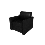 Laredo Black Leather Chair (Accent Furnishings)