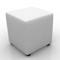 Whisper Cube Ottoman White