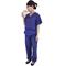 Woman in scrubs drinking (HD)
