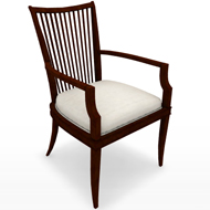 BB SLAT BACK ARM CHAIR 3449