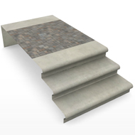 Concrete Paver Steps middle segment
