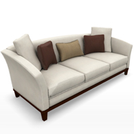 BB FLARED ARM SOFA 856