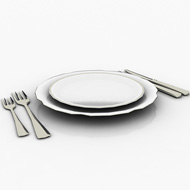 Place set with silverware